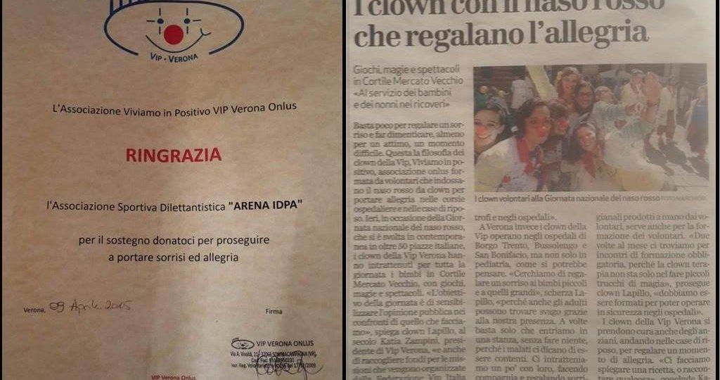 Donazione ONLUS VIP Verona