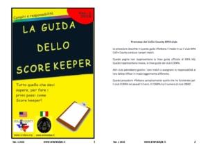 Guida del Score keeper pdf