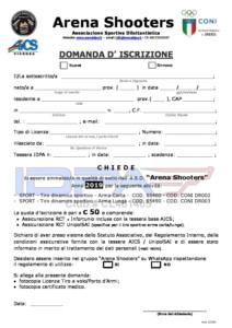 DOMANDA DI ISCRIZIONE V2 2019 pdf