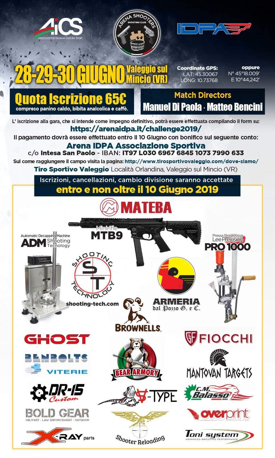 Locandina Shooters Challenge 2019-ok