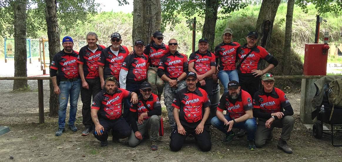 Squadra arena shooters in Trasferta ad Agna Padova